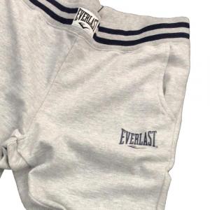 Everlast Pantalone Felpato Grigio/Navy da Uomo