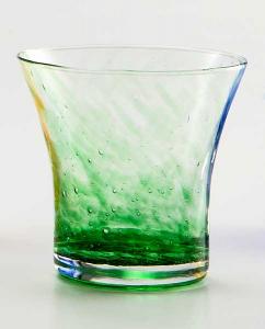 Bicchiere acqua Padova Graniglie verdi (6pz)