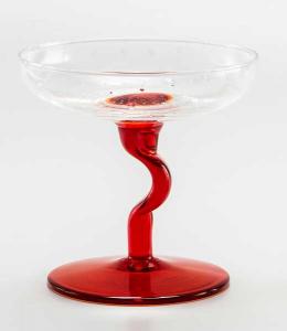 Eis Gläser Transparent Rot (6stck)
