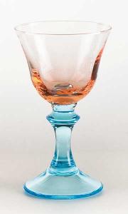 Coppa vetro soffiato rosa acquamare (6pz)