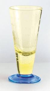 Coppa vetro soffiato giallo cobaltino (6pz)