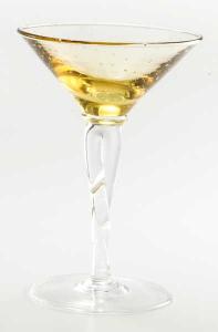 handgefertigtes Eisglasgold piede trasparent BA (6stck)