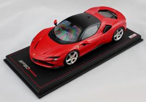 Ferrari Sf 90 Stradale Rosso Corsa Nero Ds 1250 1/18 Mr Collection