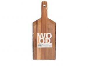 Tagliere legno da presentazione con corteccia