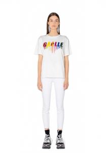 T-shirt bianca gaelle paris
