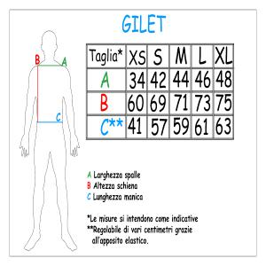 Gilet addestramento unisex, mod. Berlino, Dell'agoghè