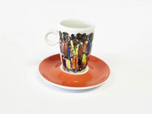 Tassen Unterteller espresso African People (6stck)