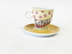 Tassen Unterteller cappuccino Funky Girl (6stck)