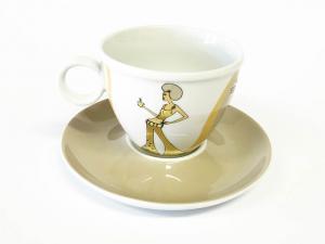Tassen Unterteller cappuccino Sunshine Girl (12stck)