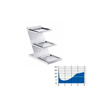 3-Etagen-Etagere mit rechteckigen Tabletts GN 2/3 gekühlt (1stck)