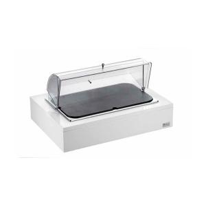 Rechteckiges Kaesetablett 1/1 aus Polyethylen mit Rolltop , hoher Widerstand (1stck)