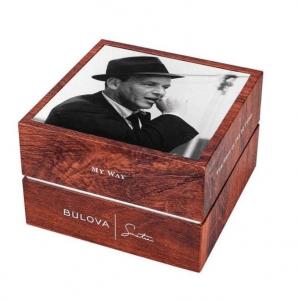 Bulova Orologio Sinatra Collection, quadrante argento soleil, indici e sfere i.p. oro