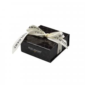 Orecchini Oro 18kt  Spazzolato Prestige con Diamanti - View1