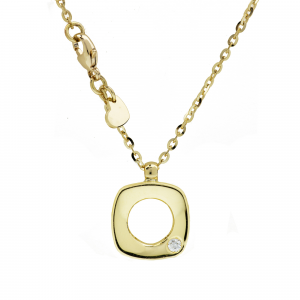 Collana Oro 18kt   Prestige con Diamante - Main view - small