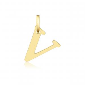 Ciondolo Oro 18kt  Lettera V - Main view - small