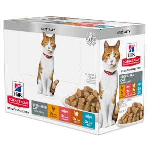 Hill's - Science Plan Feline - Young Adult - Sterilizzato - Multipack - 3 BOX 12 buste 85g