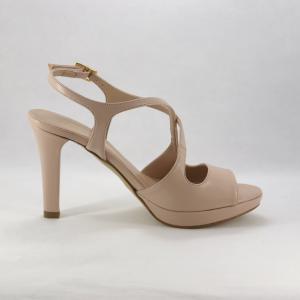 Sandalo cerimonia donna color cipria.