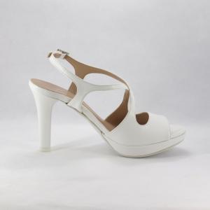 Sandalo sposa in nappa bianco