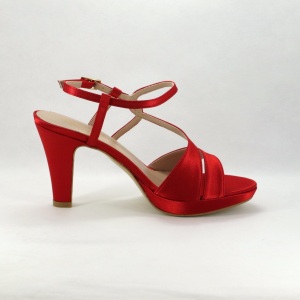 Sandalo cerimonia donna rosso