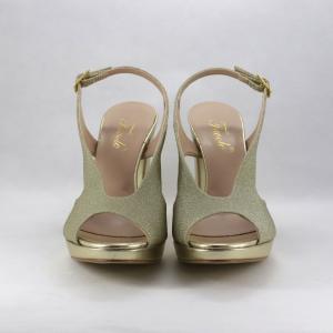 Sandalo cerimonia donna oro.
