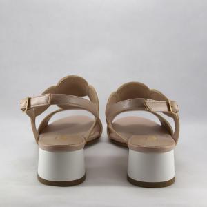 Sandalo cerimonia donna rosa/bianco