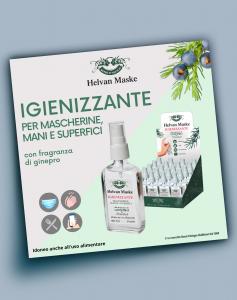 Igienizzante spray Helvan Maske