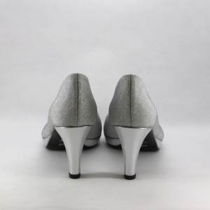 Scarpa cerimonia donna elegante argento.