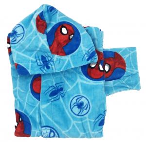 Accappatoio Spiderman Bambino  4-5 anni 6-7 anni  8-9 anni 100% cotone