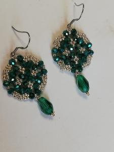Orecchini verde e argento | bigiotteria artigianale vendita online