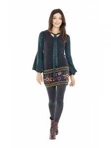 Robe courte d'hiver | Vêtements ethniques femme en ligne