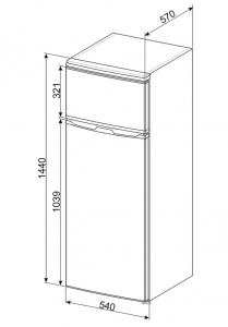 Smeg FD14FW frigorifero con congelatore Libera installazione Bianco 213 L A+