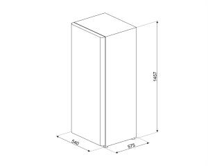 Smeg CV215NF congelatore Libera installazione Verticale Bianco 168 L A+