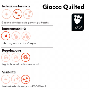 HURTTA GIACCA QUILTED PER CANI 40-45-50XL