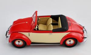 Volkswagen Beetle Convertible Hebmuller 1949 Red/Cream 1/18 Minichamps
