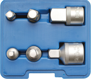Set adattatori per chiavi a bussola in cassetta BGS 199