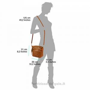 Borsa Nera a Tracolla in pelle - Arianna - Pelletteria fiorentina