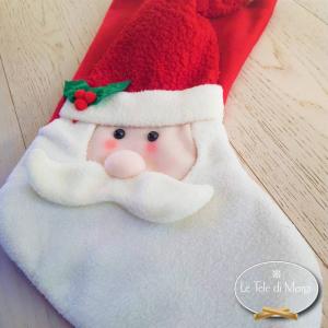 Calza Babbo Natale Rossa