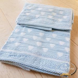 Asciugamani Cuoricini azzurro