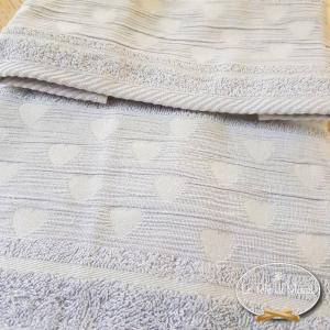 Asciugamani Cuoricini Grigio polvere