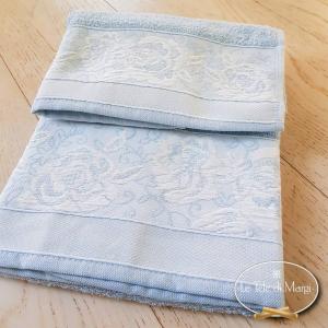 Asciugamani jacquard Rose azzurro