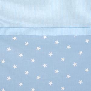Babysanity® Caldo Piumino Lettino Neonato Completo di Paracolpi Lettino, Federa e Copripiumino Sfoderabile Per l'uso Estivo 100% Cotone -Made in Italy- (Stella Azzurra) related image
