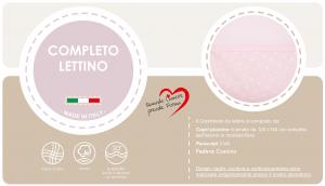 Babysanity® Caldo Piumino Lettino Neonato Completo di Paracolpi Lettino, Federa e Copripiumino Sfoderabile Per l'uso Estivo 100% Cotone -Made in Italy- (Stella Rosa) related image