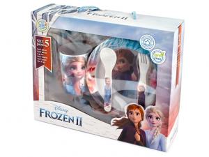 Confezione regalo Frozen2 piatti e posate