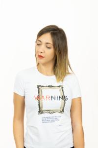 T-shirt bianca Warning Atos Lombardini