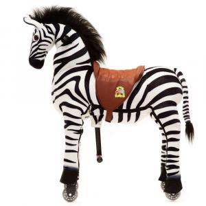 Cavallo Cavalcabile con ruote Zebra