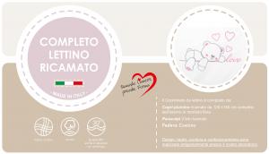 Caldo Piumino Lettino Neonato Ricamato Completo Riduttore, Paracolpi Lettino, Federa e Copripiumino Sfoderabile Per l'uso Estivo. 100% Cotone (Love Rosa Riduttore Rosa) related image