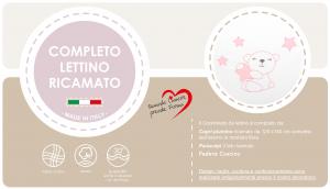 Caldo Piumino Lettino Neonato Ricamato Completo Riduttore, Paracolpi Lettino, Federa e Copripiumino Sfoderabile Per l'uso Estivo. 100% Cotone (Little Star Rosa Riduttore Stella Rosa) related image