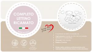 Caldo Piumino Lettino Neonato Ricamato Completo Riduttore, Paracolpi Lettino, Federa e Copripiumino Sfoderabile Per l'uso Estivo. 100% Cotone (Piccoli Orsetti + Riduttore T.U. Grigio) related image