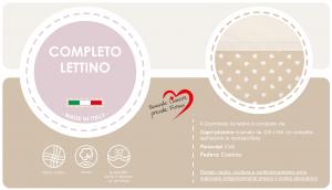 Caldo Piumino Lettino Neonato Ricamato Completo Riduttore, Paracolpi Lettino, Federa e Copripiumino Sfoderabile Per l'uso Estivo. 100% Cotone (Cuore beige + Riduttore T.U. Beige) related image