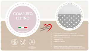 Caldo Piumino Lettino Neonato Ricamato Completo Riduttore, Paracolpi Lettino, Federa e Copripiumino Sfoderabile Per l'uso Estivo. 100% Cotone (Cuore Grigio + Riduttore T.U. Grigio) related image